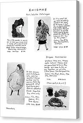 Bizarre Canvas Print - Enigmas, Fall/winter Catalogue by Danny Shanahan