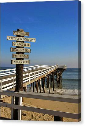 Canvas Print featuring the photograph Enjoy Malibu by Michael Hope