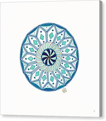 Enjoy The Breath Of Life Canvas Print by Signe  Beatrice