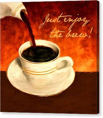 Enjoy The Brew Canvas Print
