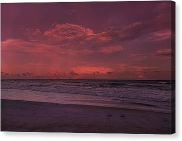 Topsail Island Canvas Print - Enjoy The Moments by Betsy Knapp