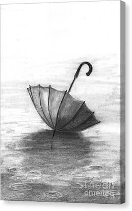 Enjoy The Raindrops Canvas Print by J Ferwerda