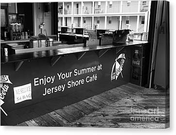 Enjoy Your Summer At The Jersey Shore Mono Canvas Print