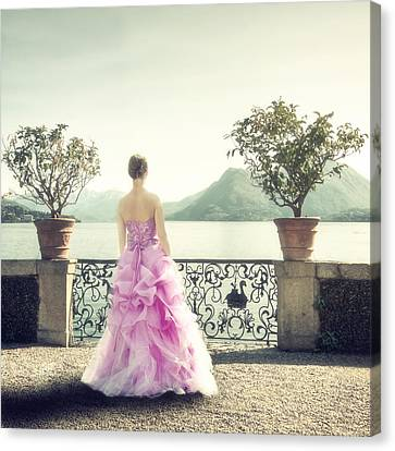 Gown Canvas Print - enjoying Italy by Joana Kruse