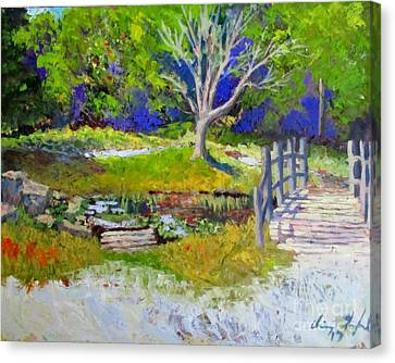 Nature Center Pond Canvas Print - Enjoying Mother Nature by Chris Shepherd