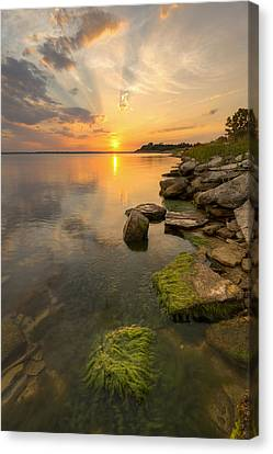 Enjoying Sunset Canvas Print