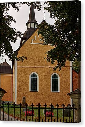 enkoepingsnaes church from east Db Canvas Print by Leif Sohlman