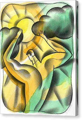 Enlighten Canvas Print by Leon Zernitsky