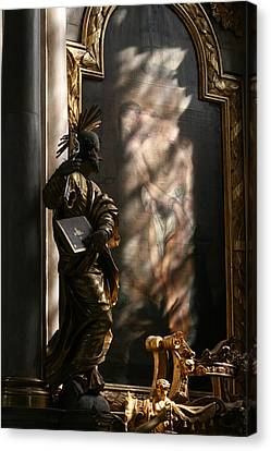 Canvas Print featuring the sculpture Enlightend by Steve Godleski