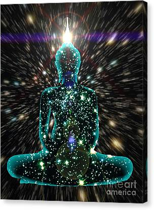 Enlightenment Space-time Consciousness Canvas Print by Gregory Smith