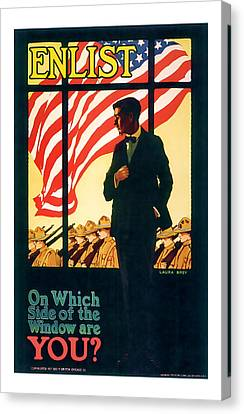 Enlistment World War 1 Elistment Art Canvas Print by Presented By American Classic Art