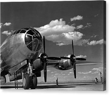 Enola Gay On Runway Canvas Print by Retro Images Archive