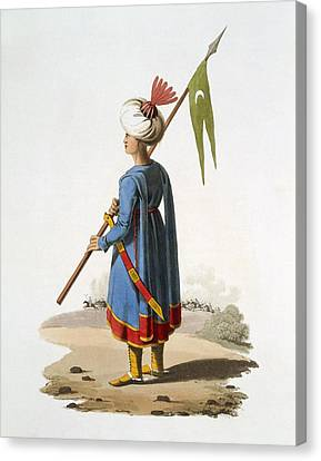 Ensign Bearer Of The Spahis, 1818 Canvas Print
