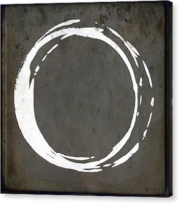 Enso No. 107 Gray Brown Canvas Print