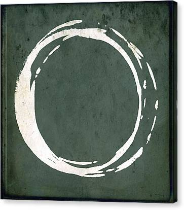 Modern Canvas Print - Enso No. 107 Green by Julie Niemela