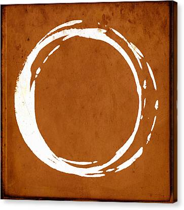 Enso No. 107 Orange Canvas Print