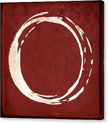 Enso No. 107 Red Canvas Print by Julie Niemela