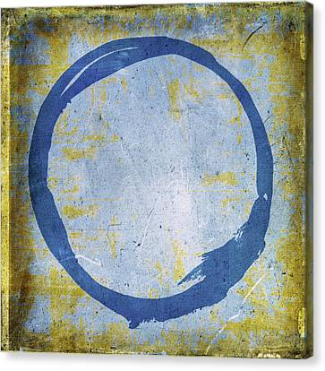Enso No. 109 Blue On Blue Canvas Print by Julie Niemela
