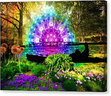 Canvas Print featuring the painting Ensueno by Jalai Lama