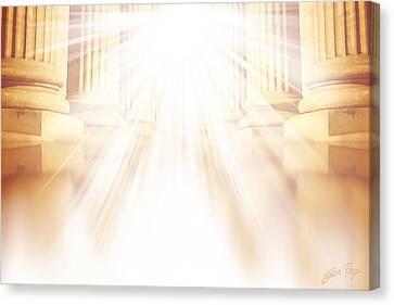 Enter Into His Courts Canvas Print