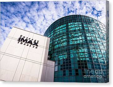 Entergy Imax Theatre In New Orleans Canvas Print by Paul Velgos