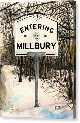 Entering Millbury Canvas Print