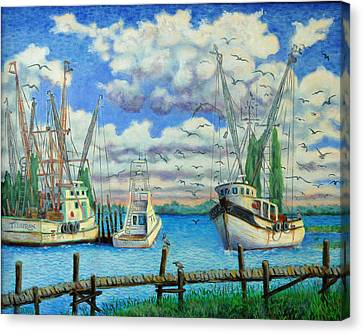 Entering Shem Creek Canvas Print