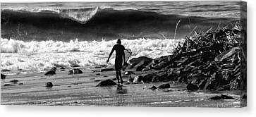 Entering The Battle Zone Canvas Print by Ron Regalado