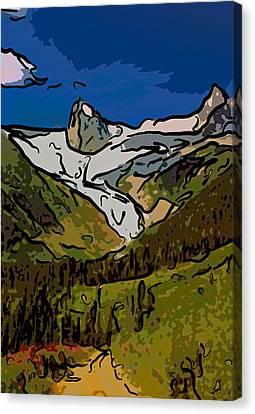 Entering The Bugaboos  2 Canvas Print by Steve Harrington