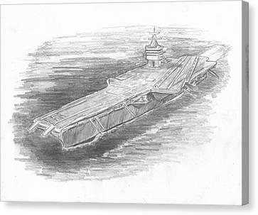 Enterprise Aircraft Carrier Canvas Print by Michael Penny