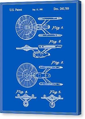 Enterprise Toy Figure Patent - Blueprint Canvas Print by Finlay McNevin