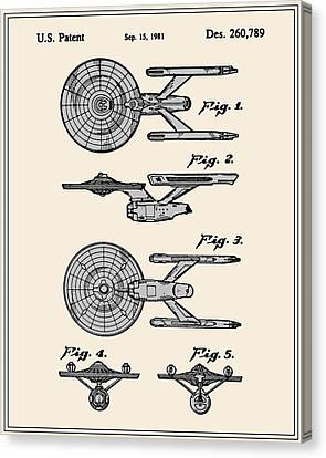 Enterprise Toy Figure Patent - Colour Canvas Print by Finlay McNevin