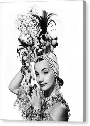 Entertainer Carmen Miranda Canvas Print