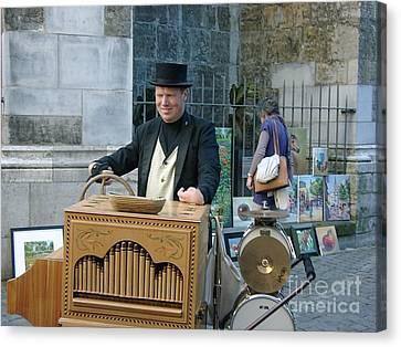 Street Musician In Aachen Germany Canvas Print