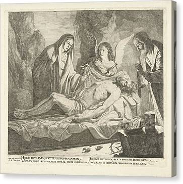 Entombment Of Christ, Guillaume Duvivier 17e Eeuw Canvas Print by Guillaume Duvivier