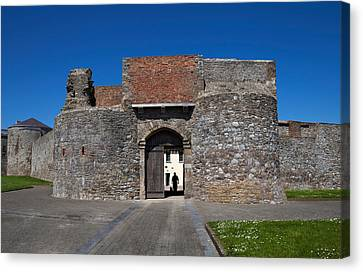 Entrance Gate, King Johns Castle Canvas Print by Panoramic Images