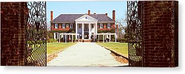 Entrance Gate Of A House, Boone Hall Canvas Print by Panoramic Images