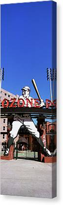 Entrance Of A Baseball Stadium Canvas Print by Panoramic Images