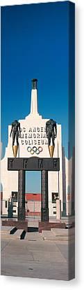 Entrance Of A Stadium, Los Angeles Canvas Print