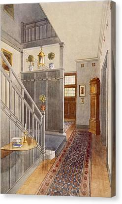 Screen Doors Canvas Print - Entrance Passage by Richard Goulburn Lovell