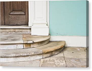 Entrance Steps Canvas Print by Tom Gowanlock