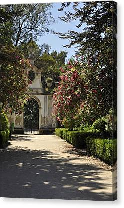 Canvas Print featuring the photograph Entrance To A Secret Garden by Sandy Molinaro