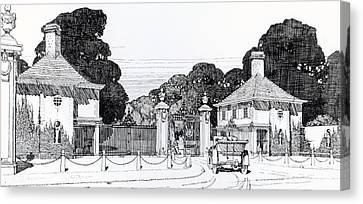 Entrance To Brooklandwood Canvas Print by Thomas Hayton Mawson