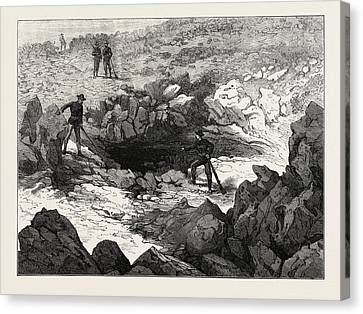 Entrance To Captain Jacks Cave Canvas Print by English School