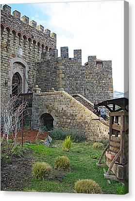 Entrance To Castello Di Amorosa In Napa Valley-ca Canvas Print