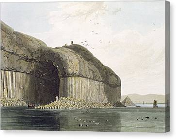 Entrance To Fingals Cave, Staffa Canvas Print by William Daniell