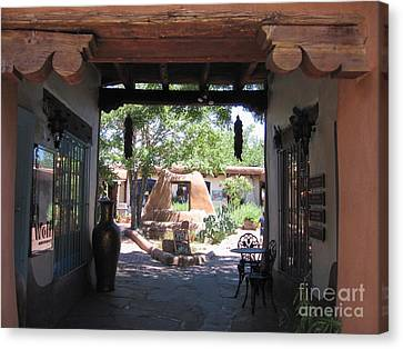Canvas Print featuring the photograph Entrance To Market Place by Dora Sofia Caputo Photographic Art and Design