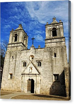 Canvas Print featuring the photograph Entrance To Mission Concepcion by Lincoln Rogers