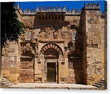 Entrance To The 10th Century Mezquita Canvas Print by Panoramic Images
