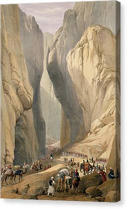 Mountain Canvas Print - Entrance To The Bolan Pass From Dadur by James Atkinson